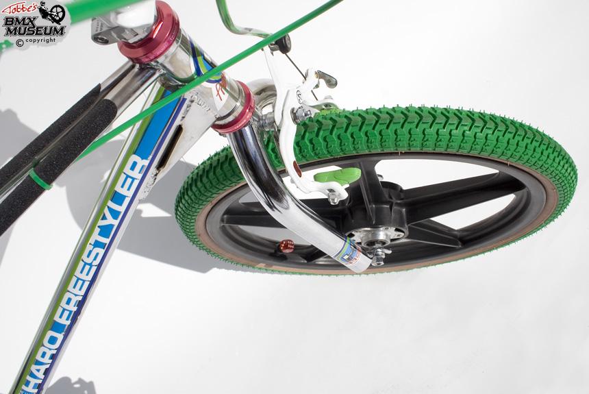 Nos OS BMX Decal Sticker for haro freestyler master frame handle bar fork green